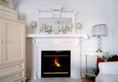 Fireplace at Magnolia Cottage - Manteo, NC
